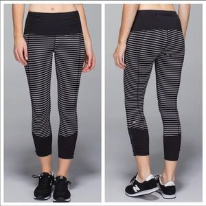 Rare Lululemon Runday Crop Parallel Stripe